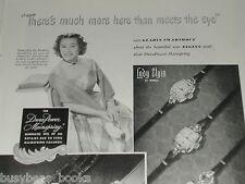 1949 Elgin Watch ad, movie star Gladys Swarthout