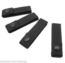 "Lot of 4 Condor 4"" Inch Molle MOD Straps for Tactical Gear Pouch - Black #223"