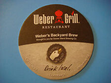 Beer COASTER ~ GOOSE ISLAND Brewing, Chicago, IL ~ Weber's Backyard BBQ Brew