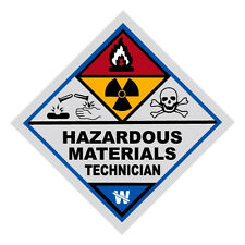 Haz Mat Hazardous Materials Technician Firefighter Reflective Decal Sticker