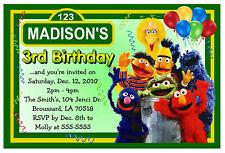SESAME STREET BIRTHDAY PARTY INVITATIONS