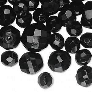 Jablonex Czech Glass Faceted Beads Mix Sizes Lot of 90+ Beads