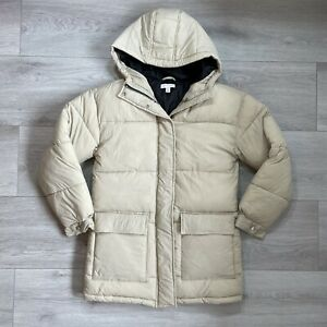 Topshop Puffer Jacket Size UK 8 Womens Cream Padded Coat