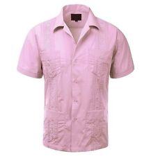 NWT Men's Original Cuban Guayabera Shirt, Wedding Cigar Beach Bartender Casual