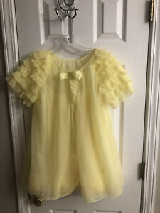 AWESOME VINTAGE EVETTE 1960's 3 PIECE SHEER CHIFFON BABYDOLL SET / PANTIES S