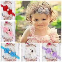 Hot Items Girl Kid Rose Bow Baby Darling Newborn Hairband Lace Flower Headband