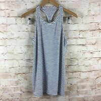 Athleta Womens White Gray Striped Lightweight Chi Tank Top Size Small New