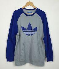 Vintage años 90 Suéter Sudadera Jumper Adidas Raro Deporte Urbano Retro UK L
