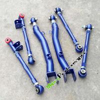 For Subaru Impreza WRX STi GDA GDBC GGA GC8 6Pcs BLUE Trailing Control Arms Set