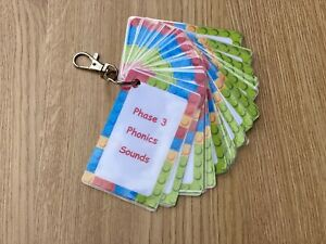 Phonics Sounds & Words Phase 3  Flashcards Primary School Key Stages