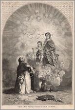 1879 : ILLUSTRATION / GRAVURE : RELIGION SAINT DOMINIQUE par Yan' DARGENT