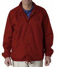 UltraClub Mens Nylon Coaches Windbreaker Jacket. 8944