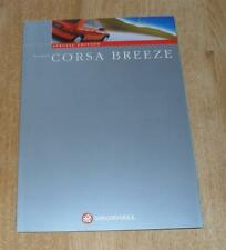 Vauxhall Corsa Breeze Special Edition Brochure 1998