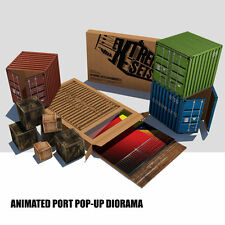 Extreme Sets Animated Port Pop-Up playset Diorama for 1/12 scale  figures NEW!