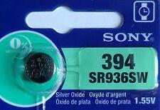 1 PILE SR936SW / SR936 / 394 / 1,55V SONY / ENVOI RAPIDE