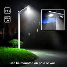 1,600LM Commercial Outdoor LED Solar Street Light IP65 Dusk to Dawn Sensor Lamp