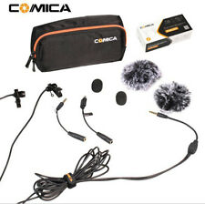 COMICA 2.5M Dual-head Lavalier Microphone MIC for DSLR Camera iPhone GoPro