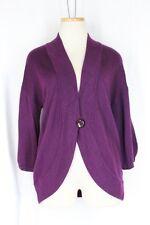 ANN TAYLOR Bolero Cardigan Sweater MEDIUM PETITE MP Purple 3/4 Sleeve Button