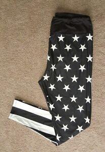LuLaRoe TC2 Leggings ~ Black & White ~ Stars & Stripe ~ Police Lives ~ RARE