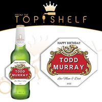 Personalised Stella Artois lager bottle label 660ml size any name / occasion