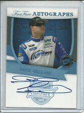 2012 Press Pass Fan Fare David Gilliland Auto #d /25 Autograph Card FF-DG Nascar