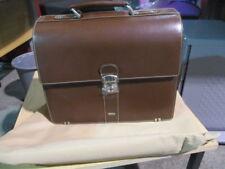 Alassio - 47022 -MONACO - briefcase with shoulder strap, leather, dark brown