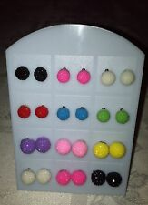 Lot (12) display x 12 Pair Women  Pear Round  Ear Stud Earring Display Stand