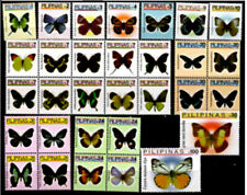 Philippines 2006 Insects Butterfly including setenant of 10 & 4 complete 31v NH
