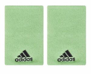 adidas Tennis Wristbands L Sports Badminton Sweatband Green Racket 2 PC EA0405