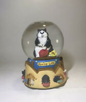 San Francisco Music Box Company You're Late Angus And Friends Chubby Cat Globe