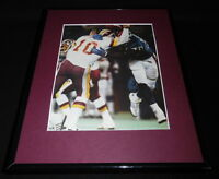 Leonard Marshall vs Jay Schroeder 2007 Framed 11x14 Photo Display Giants