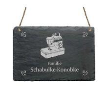 « NÄHMASCHINE » Schiefertafel Türschild mit MOTIV + IHR TEXT - Schneider Textil