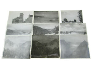 9 Vintage July 1945 Photographs of France Mont-Dore Vezelay Lac Chambon 8x10 b&w