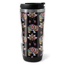 Pretty Elephant Travel Mug Flask - 330ml Coffee Tea Kids Car Gift #14789