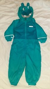 Regatta Puddle Suit 12-18 Months Rain All in One Turquoise Teal Boy Girl Unisex