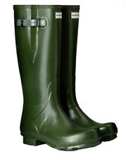 SALE New Ladies Field Side Adjustable Calf Hunter Wellies Wellingtons Green 5