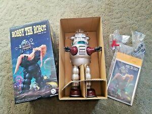 "10"" Silver Robby The Robot Wind Up Osaka Tin Toy Japan ~ NEW MIB ~ #370S LMTD ED"
