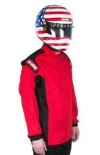 RACEQUIP NEW SFI-1 LARGE RED CHEVRON-1 JACKET DRIVING AUTO RACING FIRESUIT