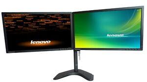 Matching Dual 23inch Monitor w/Heavy Duty Stand &Dock LENOVO T2324P HDMI VGA DP