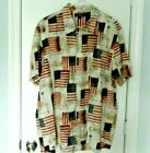 North River Outfitters Mens XL Button Down Shirt Flag Patriotic Americana Cotton
