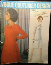 Vogue Couturier Design Pattern 1587 Simonetta of Italy Size 18