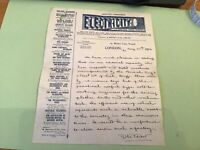 Electricity A Practical Trade Journal Strand London  1916 Letter  Receipt 49652