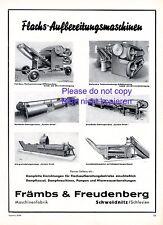 Främbs & Freudenberg Schweidnitz XL 1941 Reklame Maschinenfabrik Flachs +