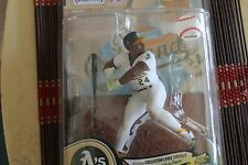 RICKY HENDERSON, COOPERSTOWN 8,  WHITE JERSEY MCFARLANE, OAKLAND A'S