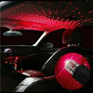 Car Atmosphere Lamp Ambient Star Sky Light Roof LED Red USB Projector Starry USB