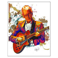 "Pat Martino Bebop Jazz Guitar Joyous Lake 11x14"" Music Art Print Poster"
