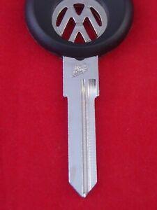 HUF VOLKSWAGEN Logo KEY BLANK 1971-87 VW Golf Rabbit Jetta GTI Scirocco Dasher