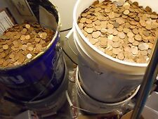 $300 Face Value 204 LBS! US Copper Pennies Machine Sorted 1959-1982 30,000 Coins