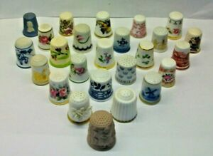 """FULL SET OF 25 FRANKLIN MINTS """"THIMBLES OF THE WORLDS GREATEST PORCELAIN HOUSES"""""""