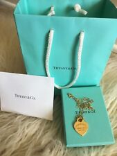 Return to Tiffany 18Kt Gold Heart Pendant Necklace Mint with receipt!